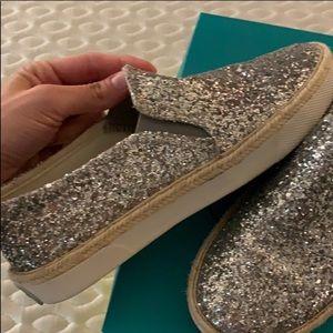 LAST CHANCE! Jack Rogers silver glitter sneakers